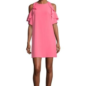 NWT Kate Spade Cold Shoulder Crepe Dress, Pink 💕